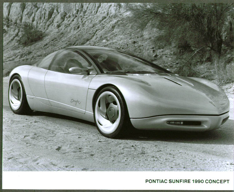 1990 Pontiac Sunfire Concept Car 8x10 prototype pic 4