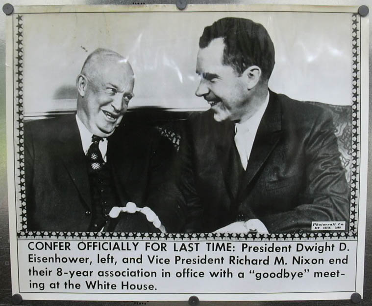Image for Eisenhower & Nixon in goodbye meeting photo 1961