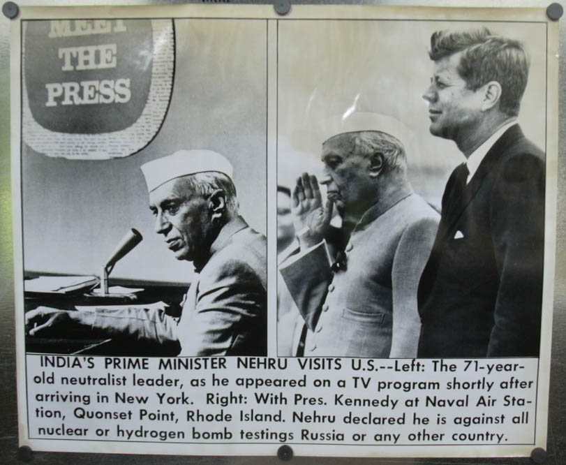 Image for Nehru visits JFK, appears on Meet the Press photo 1961