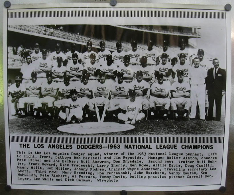 1963 National League Champion Los Angeles Dodgers photo