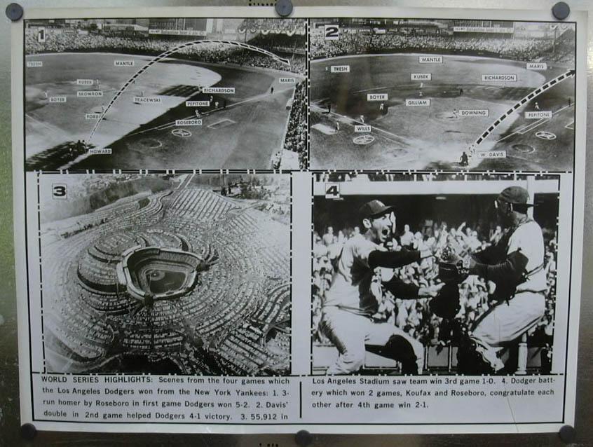 Dodgers sweep Yankees in World Series photo 1963