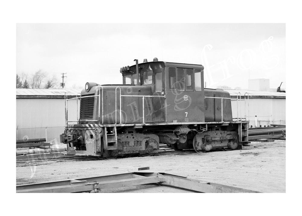 """American Car & Foundry yard diesel #7 5x7"""" photo 1969"""