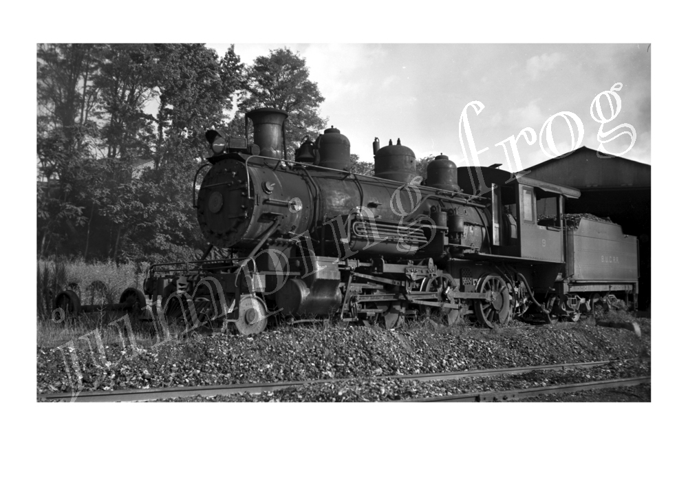 "Buffalo Union-Carolina Railroad 4-6-0 steam locomotive #9 5x7"" photo"