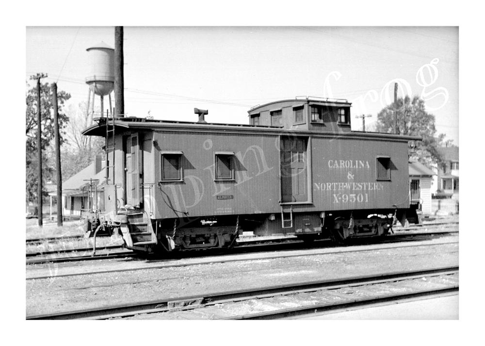 "Carolina & North-Western Railroad caboose #X9501 5x7"" photo"