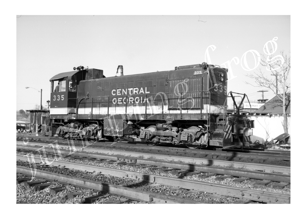 "Central of Georgia diesel locomotive #335 5x7"" photo view #2 ca 1960s"