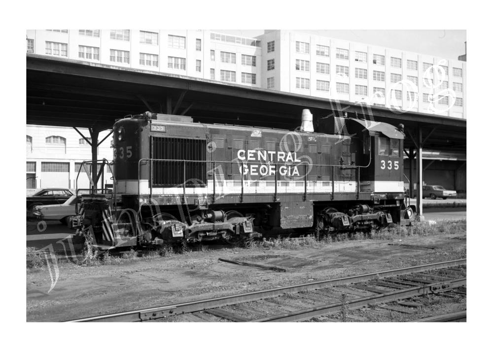 "Central of Georgia diesel locomotive #335 5x7"" photo 5/25 1968"