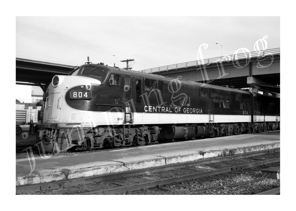 "Central of Georgia diesel locomotive #804 5x7"" photo 5/1 1967"