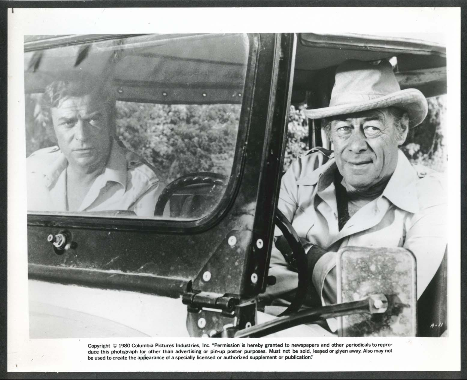 Image for Michael Caine Rex Harrison Ashanti 8x10 photograph 1979
