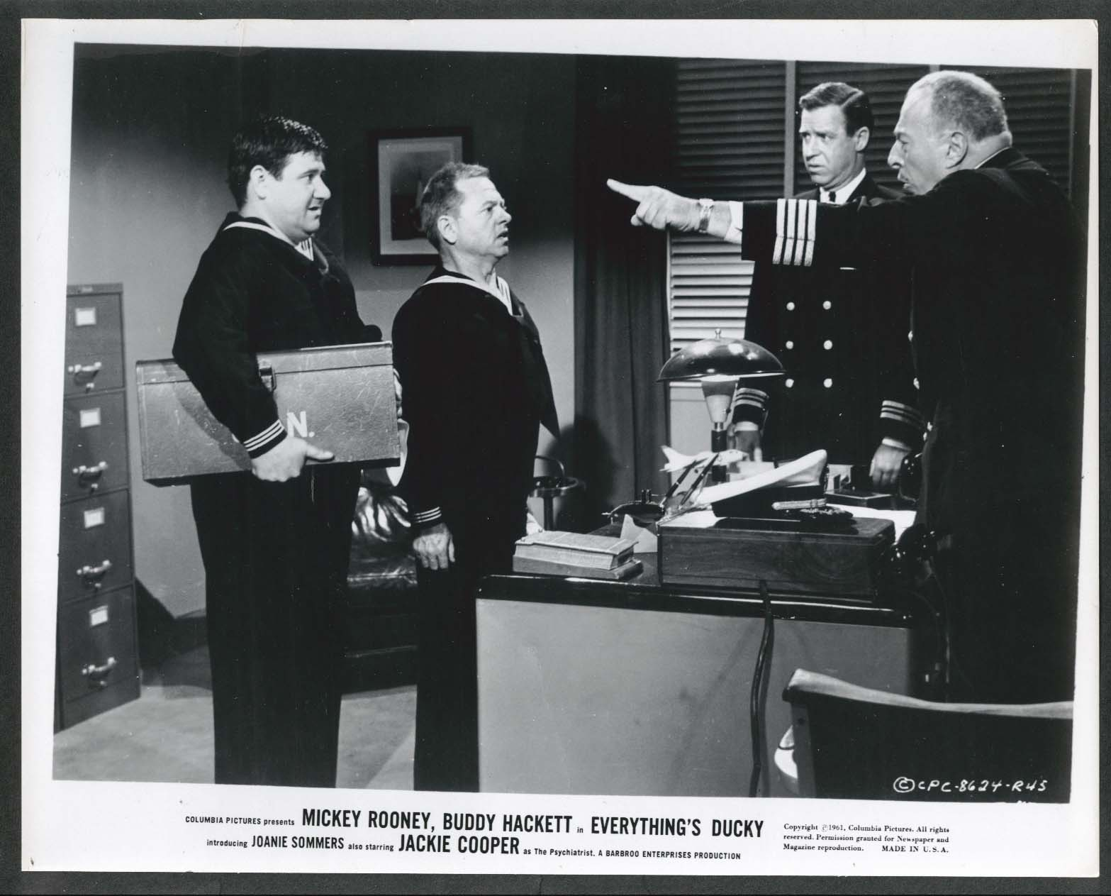 Image for Buddy Hackett Mickey Rooney Gene Blakely Everything's Ducky 8x10 photo 1961 #45