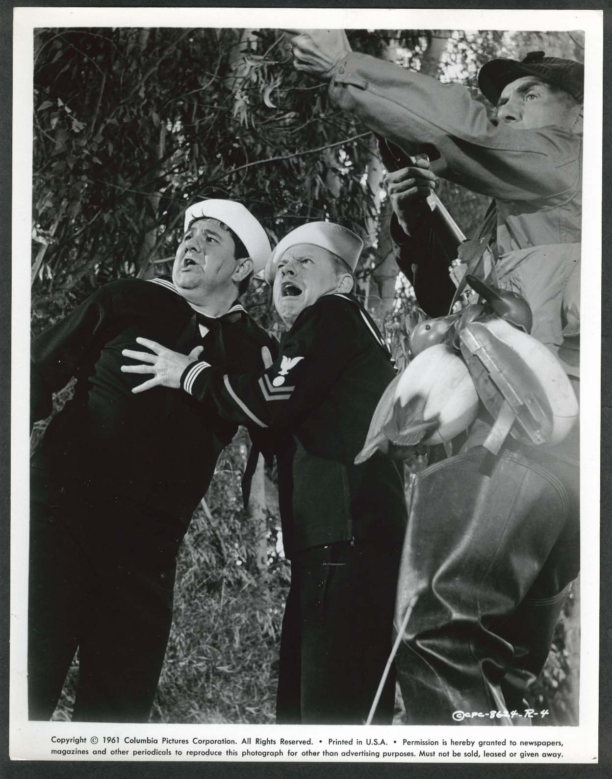 Image for Buddy Hackett Mickey Rooney duck hunter Everything's Ducky 8x10 photo 1961 #4