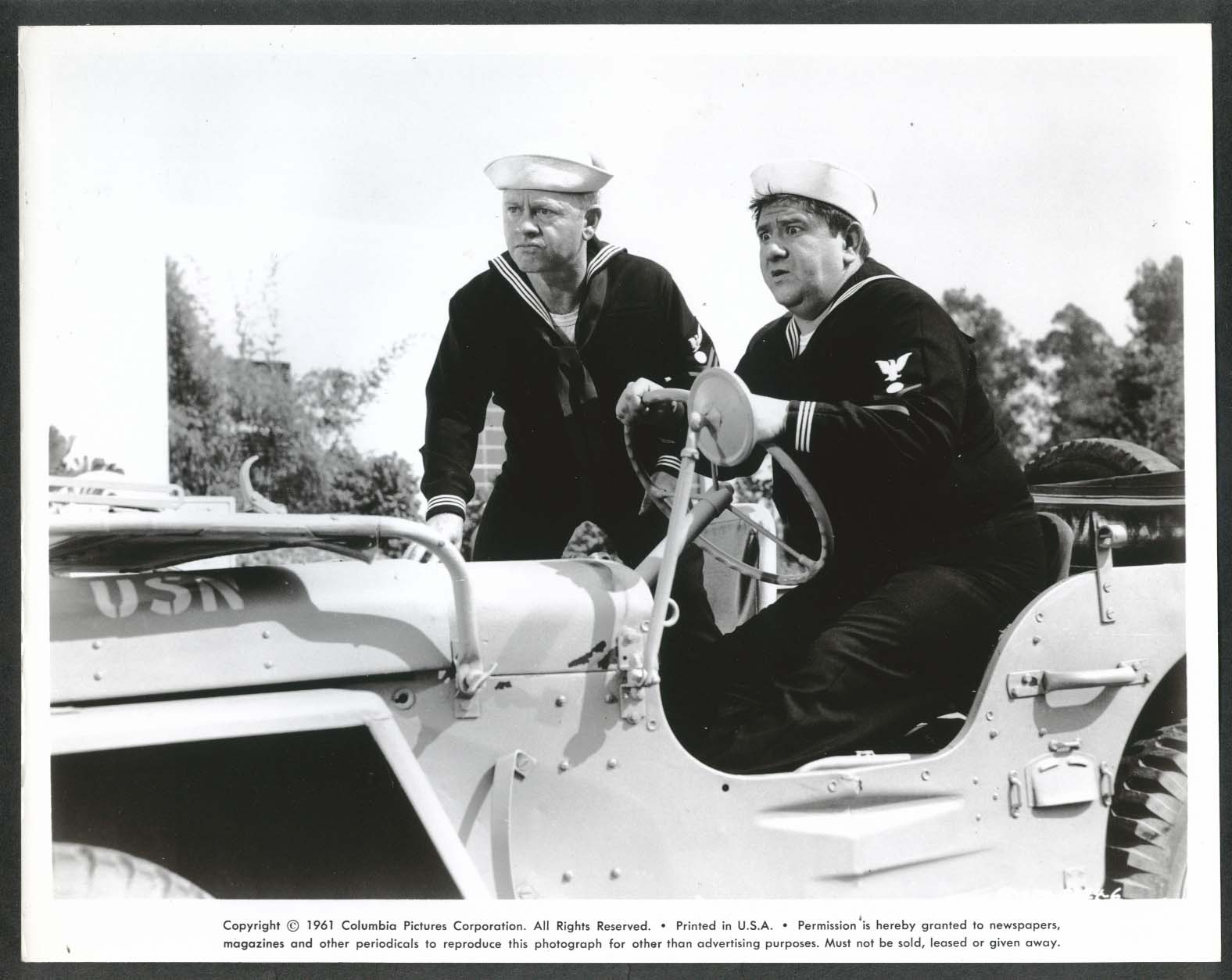 Image for Mickey Rooney Buddy Hackett jeep Everything's Ducky 8x10 photograph 1961 #6