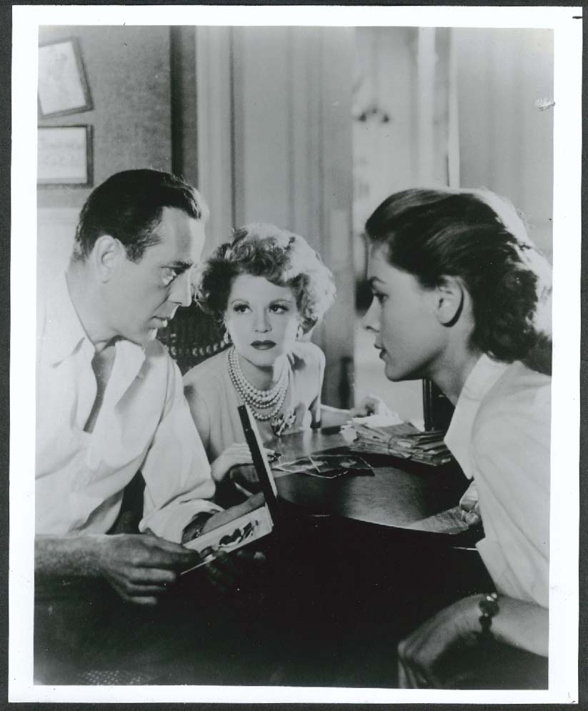 Image for Humphrey Bogart Lauren Bacall Claire Trevor Key Largo 8x10 photo 1948 restrike