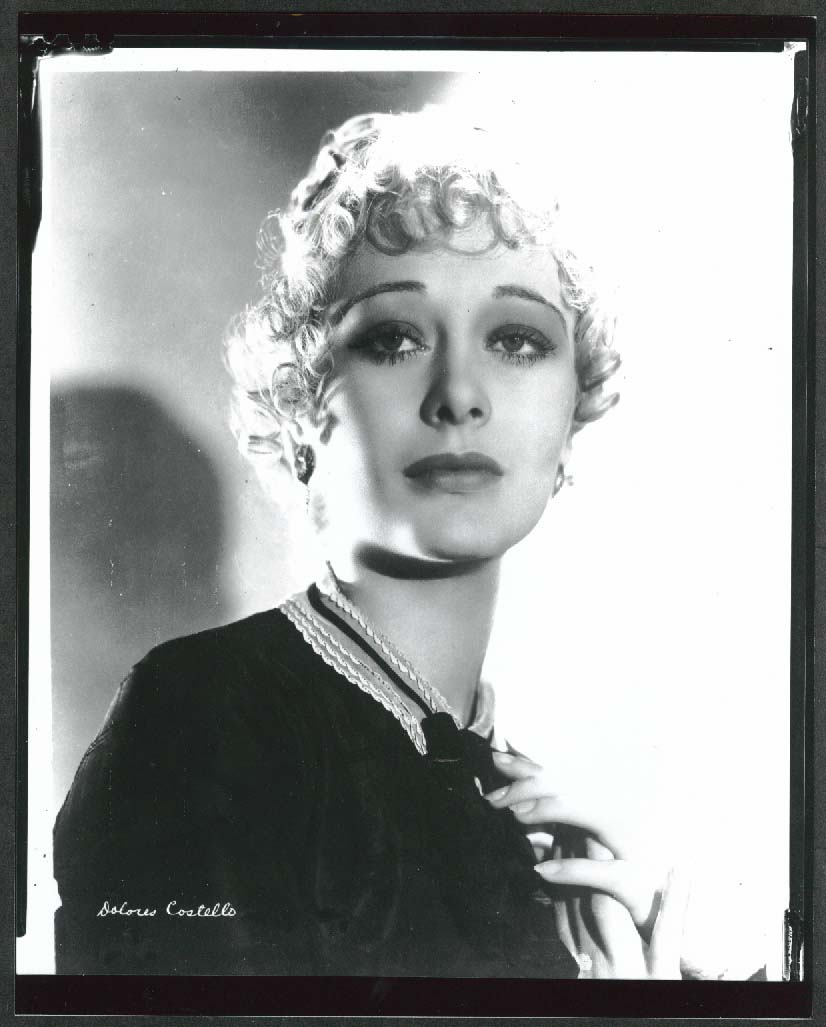 Image for Dolores Costello headshot 8x10 photograph 1920s later restrike