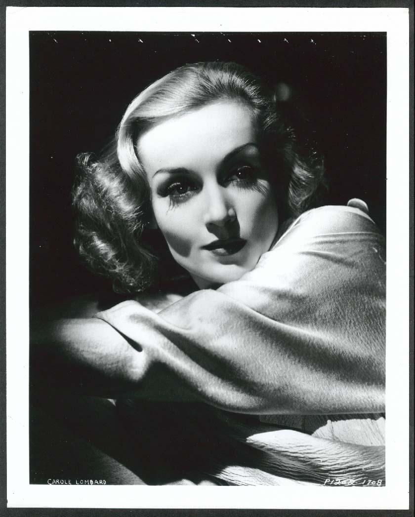 Image for Carole Lombard headshot 8x10 photograph 1940s