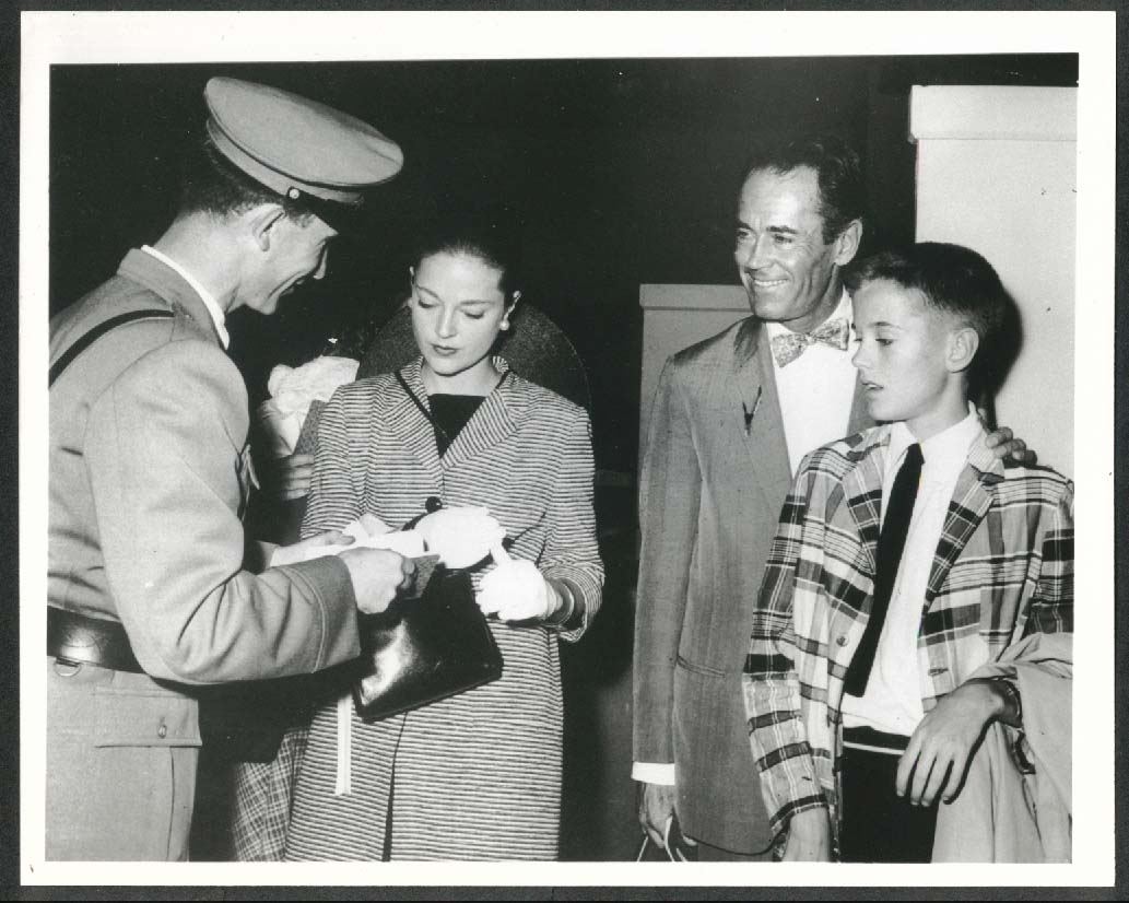 Image for Henry Fonda Susan Blanchard Peter Fonda 8x10 photograph 1955 later restrike