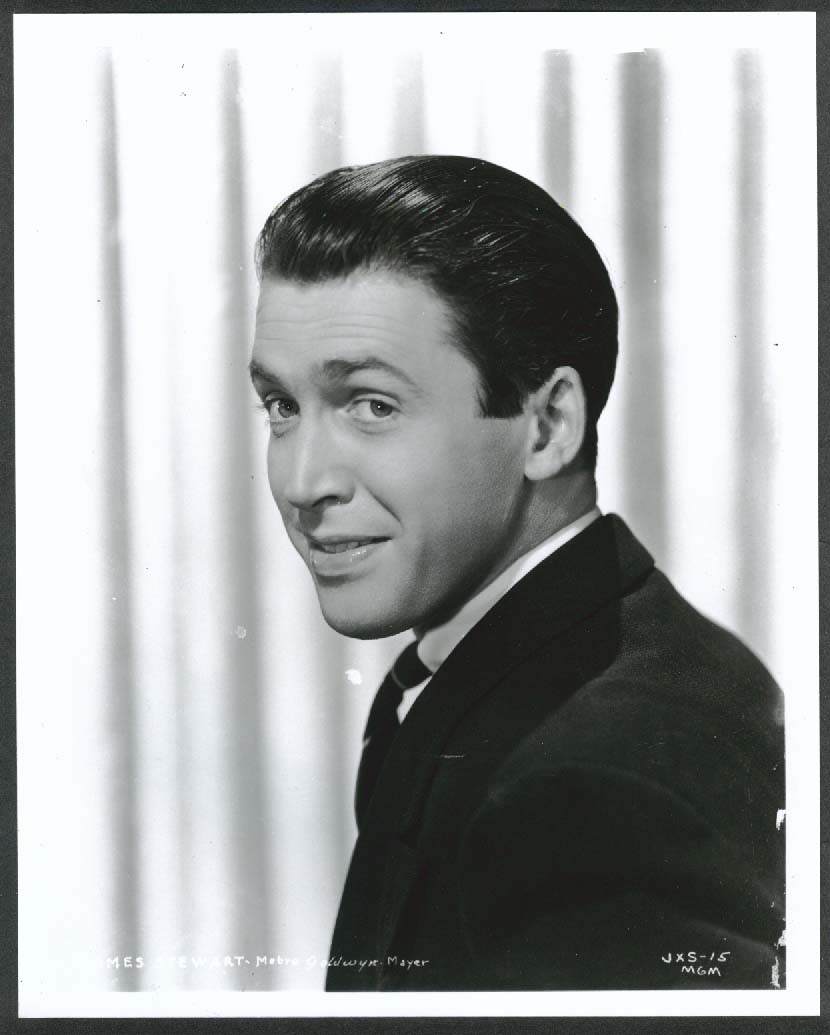 Image for James Stewart headshot 8x10 photograph MGM 1940s restrike