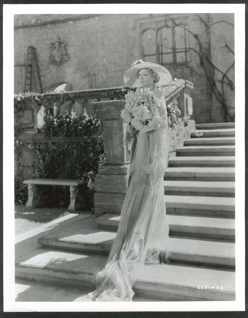 Image for Ethel Barrymore flowers on stairs 8x10 photograph 1940s