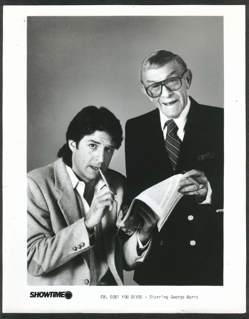 Image for George Burns Ted Wass Oh, God! You Devil 8x10 photograph 1984
