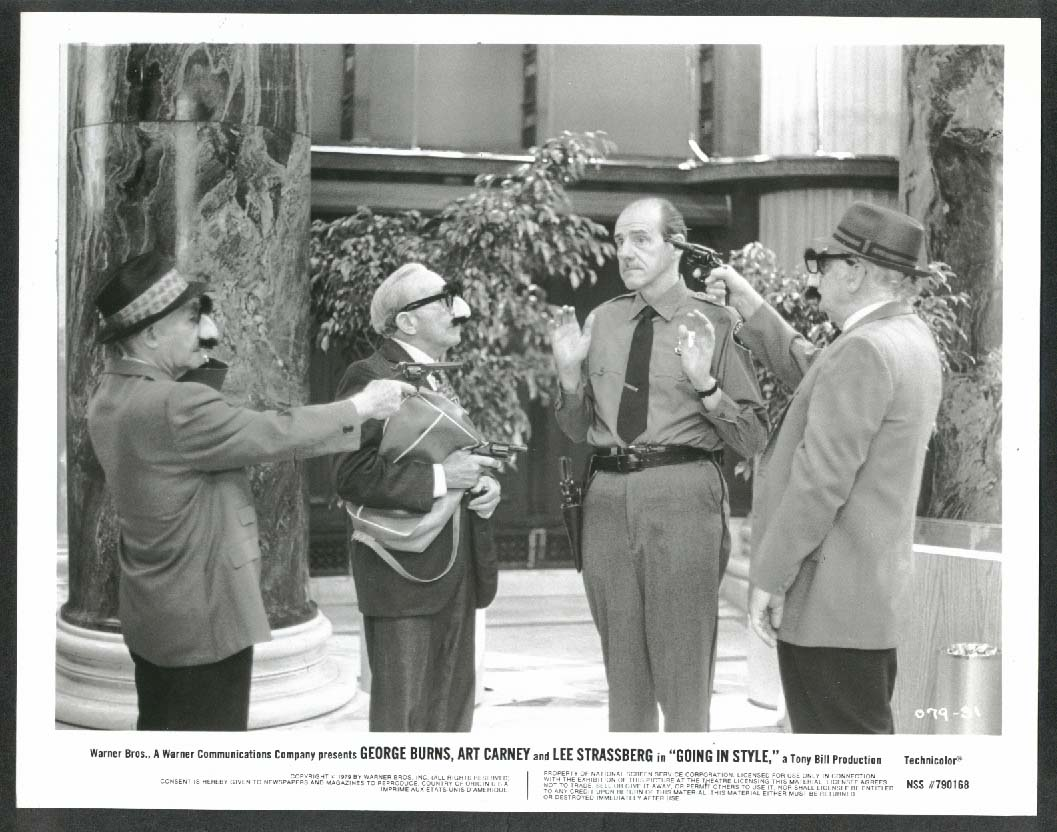 Image for George Burns Art Carney Lee Strasberg Going in Style 8x10 photograph 1979