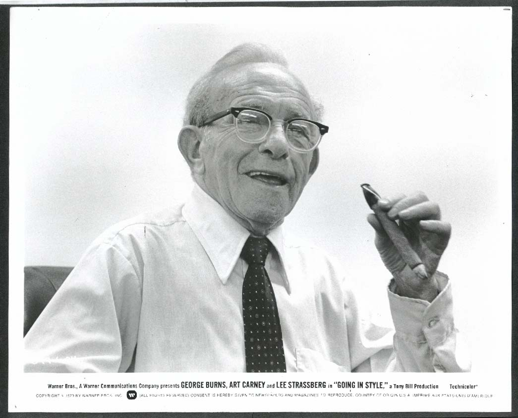 Image for George Burns Going in Style 8x10 photograph 1979