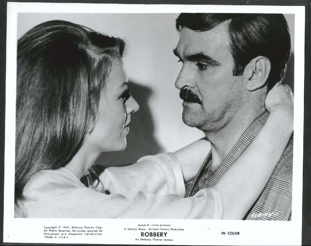 Image for Joanna Pettet Stanley Baker hug Robbery 8x10 photograph 1967