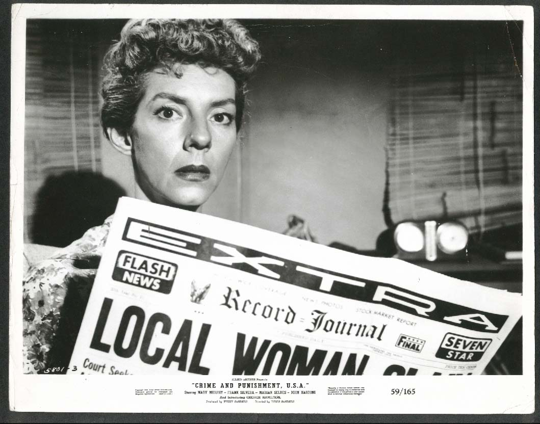Image for Crime & Punishment USA Mary Murphy 8x10 photograph 1959