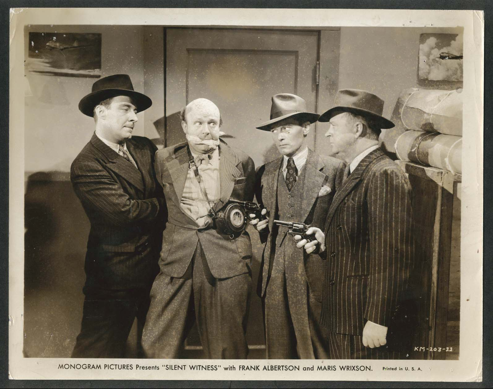 Image for Frank Albertson Silent Witness 8x10 photograph 1943