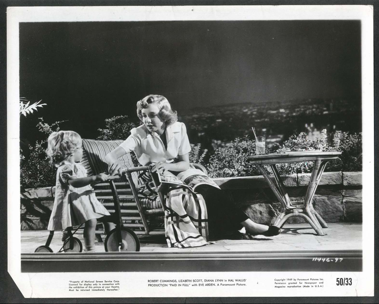 Image for Diana Lynn Paid in Full 8x10 photograph 1950