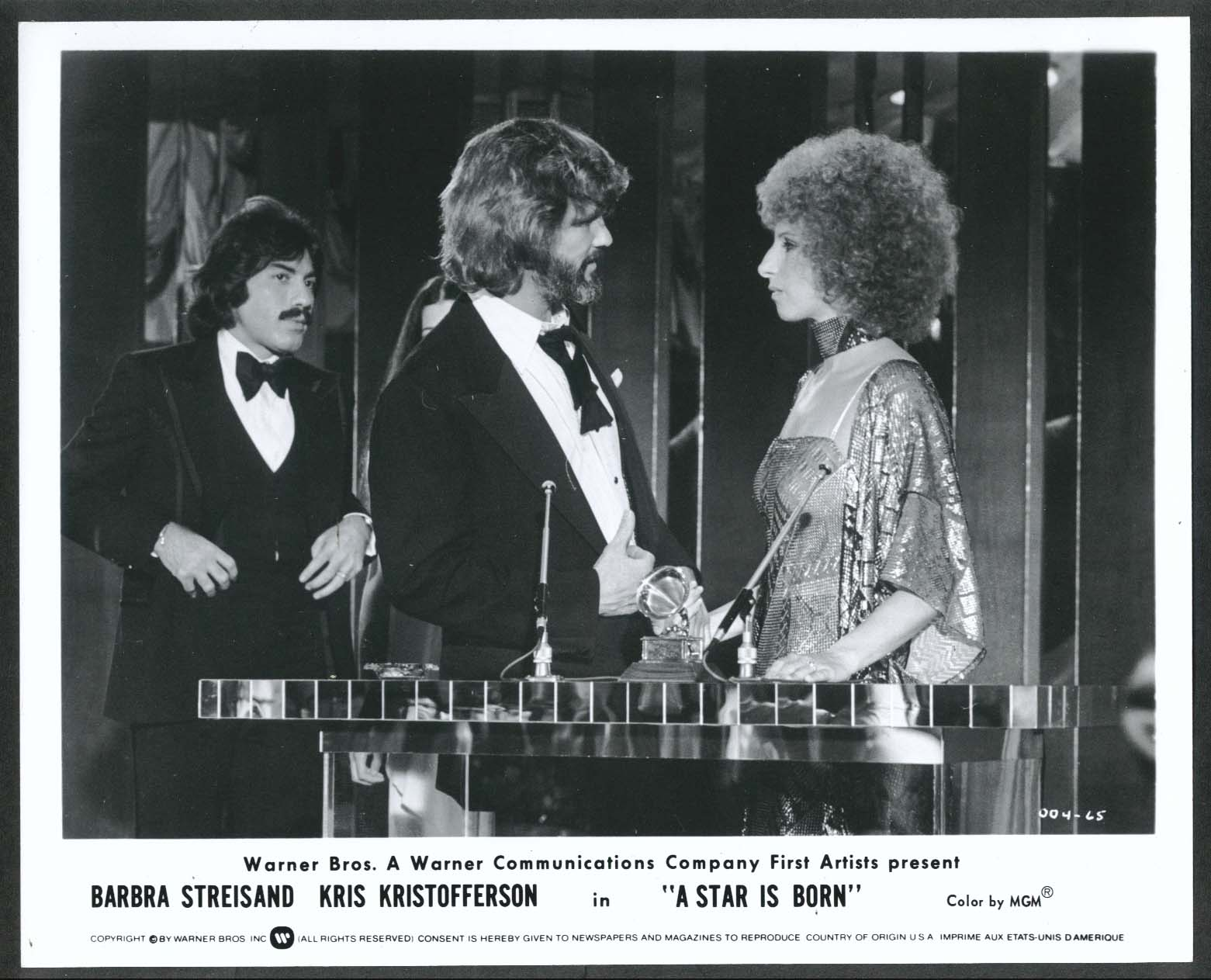 Image for Kris Kristofferson Barbra Streisand A Star Is Born 8x10 photograph 1976