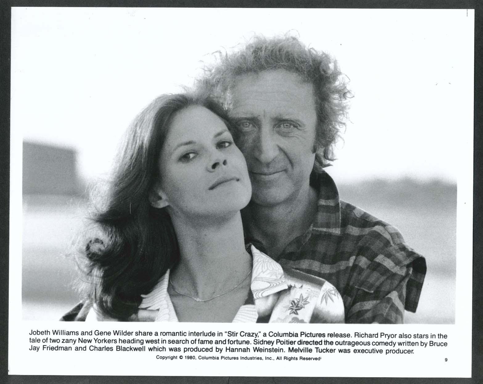Image for Jobeth Williams Gene Wilder Stir Crazy 8x10 photograph 1980