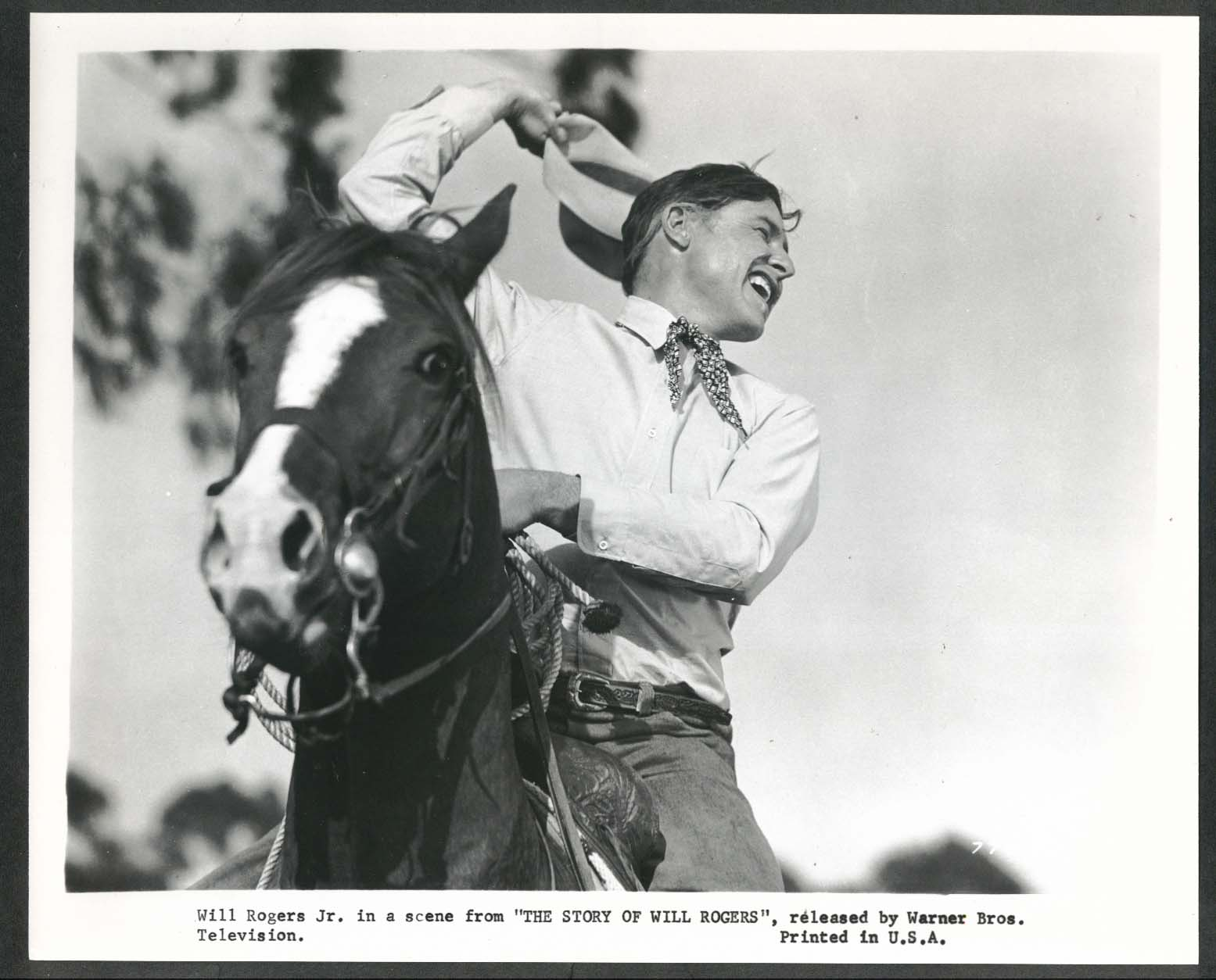 Image for The Story of Will Rogers horseback 8x10 photograph 1952