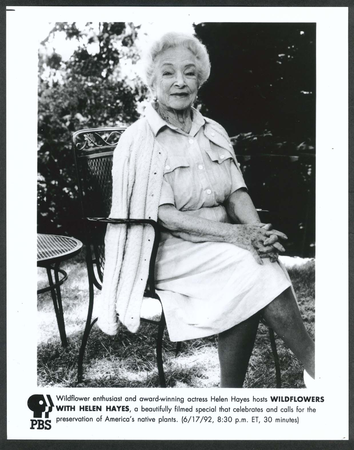 Image for Wildflowers with Helen Hayes PBS 8x10 photograph 1992
