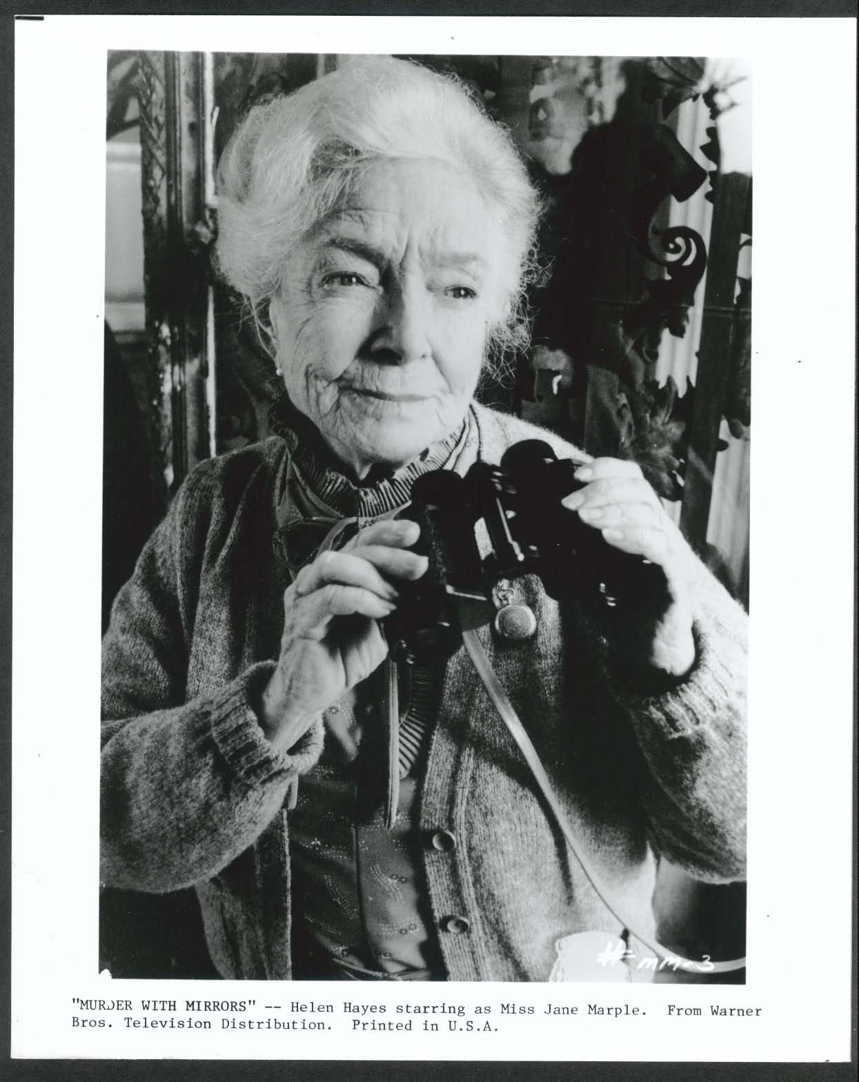 Image for Murder With Mirrors Helen Hayes binoculars 8x10 photograph 1985