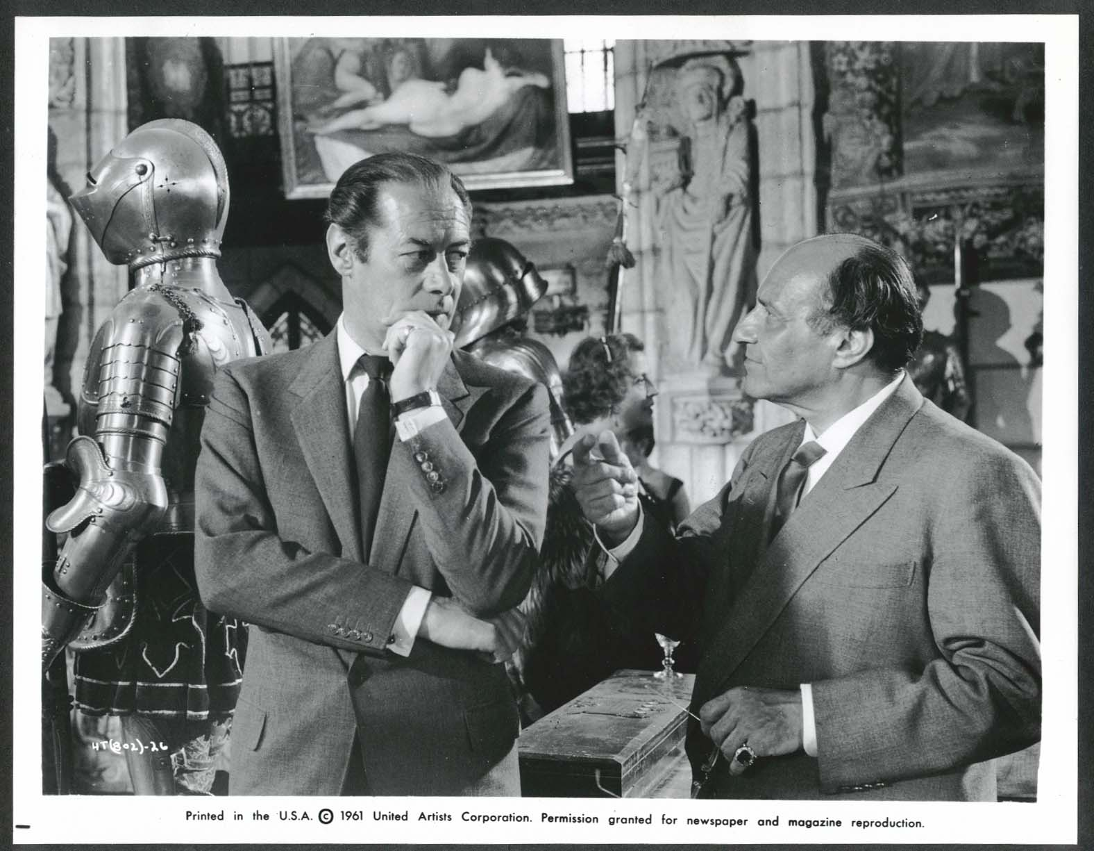 Image for Rex Harrison Peter Illing The Happy Thieves 8x10 photograph 1961