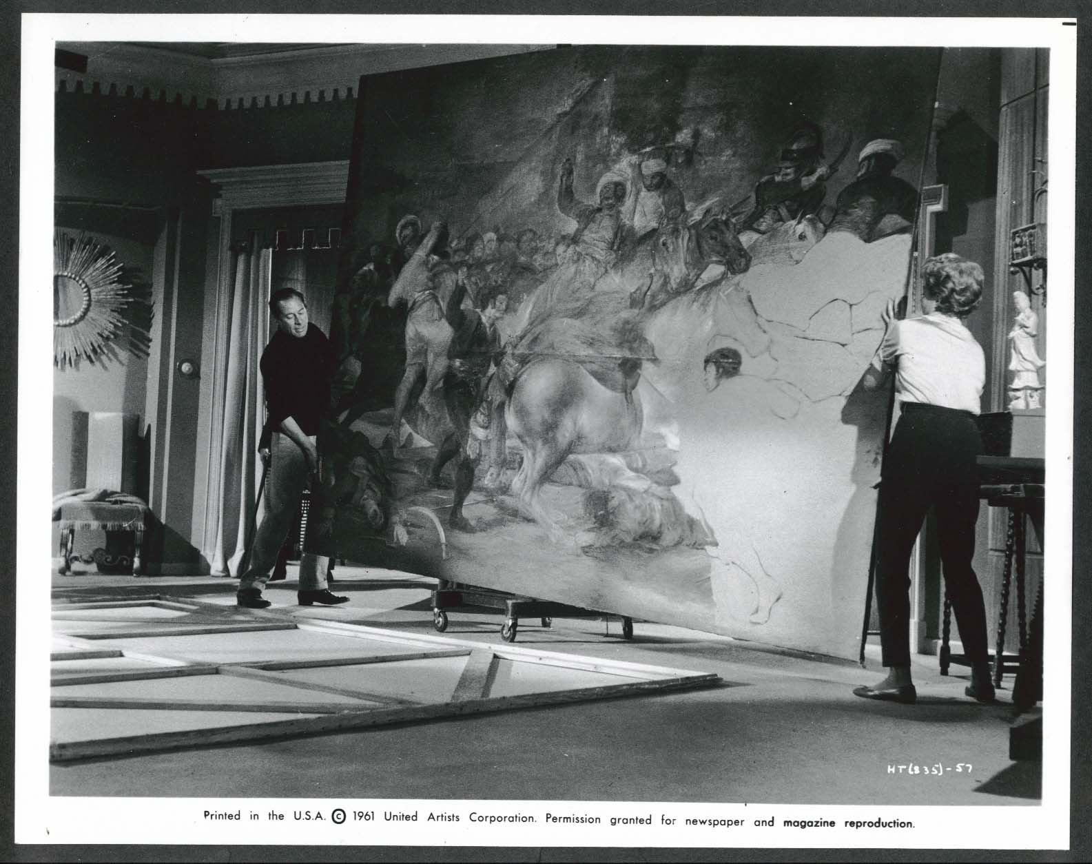 Image for Rex Harrison Rita Hayworth The Happy Thieves painting 8x10 photograph 1961