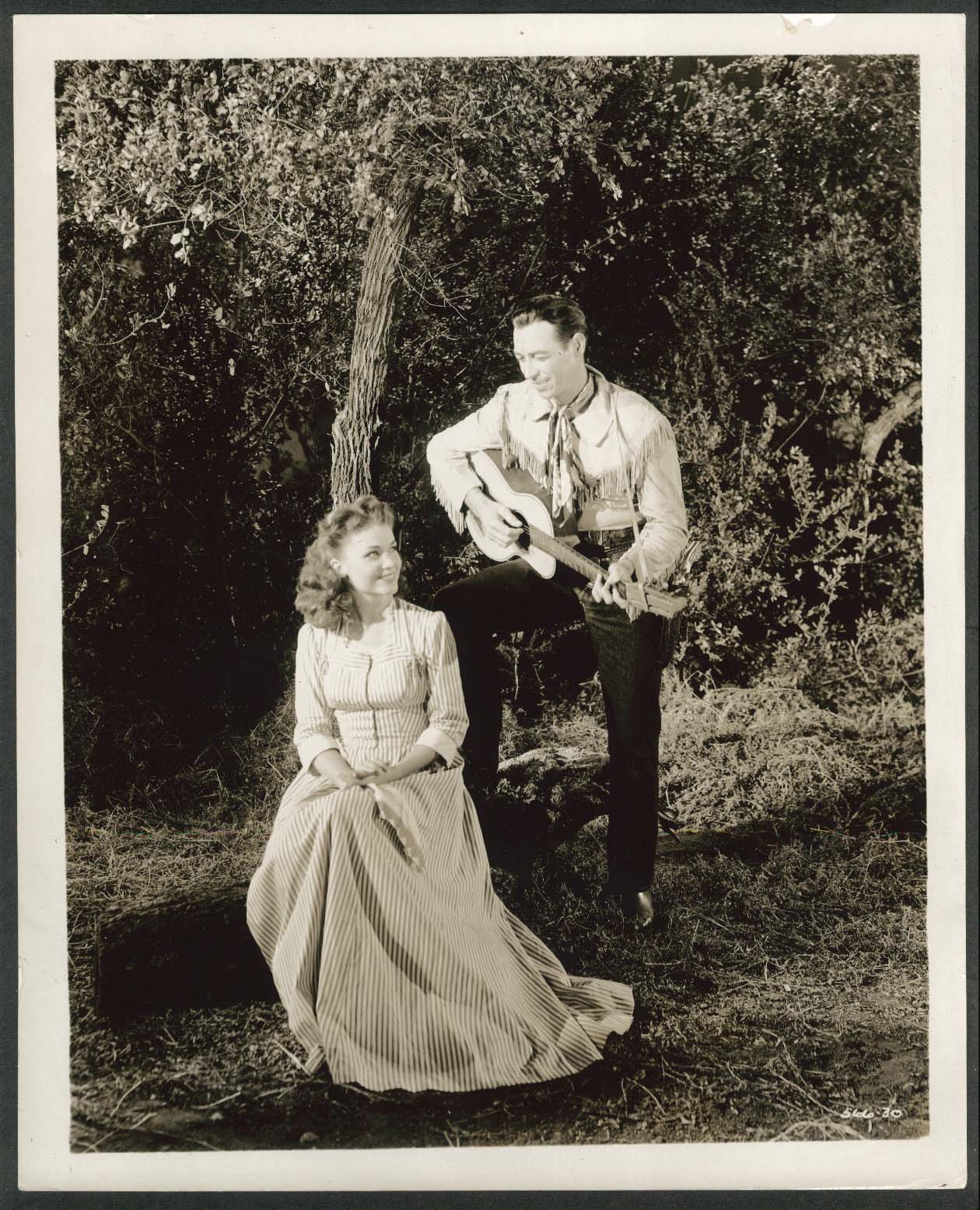 Image for Rex Allen Elisabeth Fraser in The Hills of Oklahoma 8x10 photograph 1950