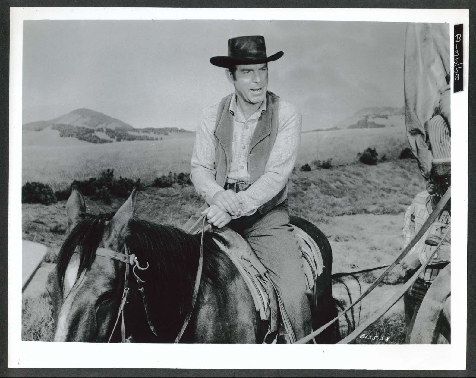 Image for Fred MacMurray on horseback 8x10 photograph 1958