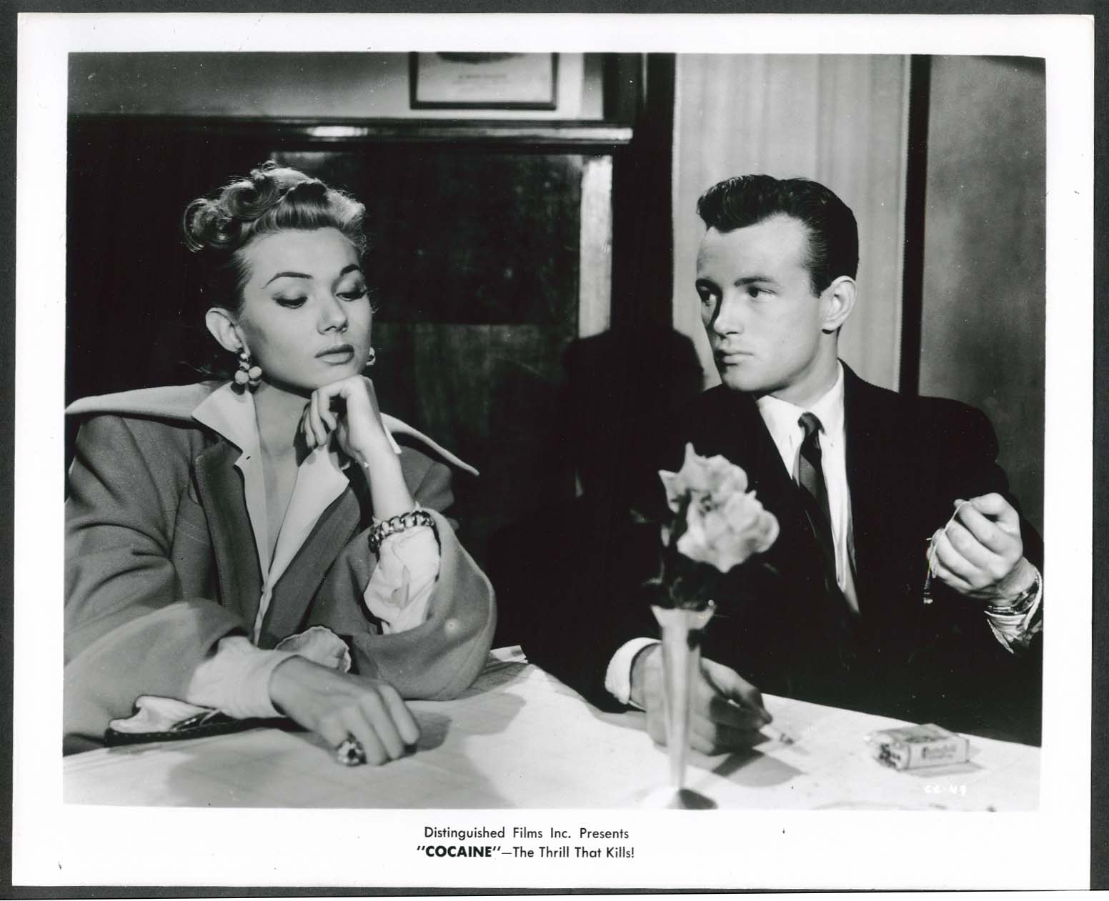 Image for Cocaine The Thrill That Kills Distinguished Films Inc 8x10 photograph 1940s