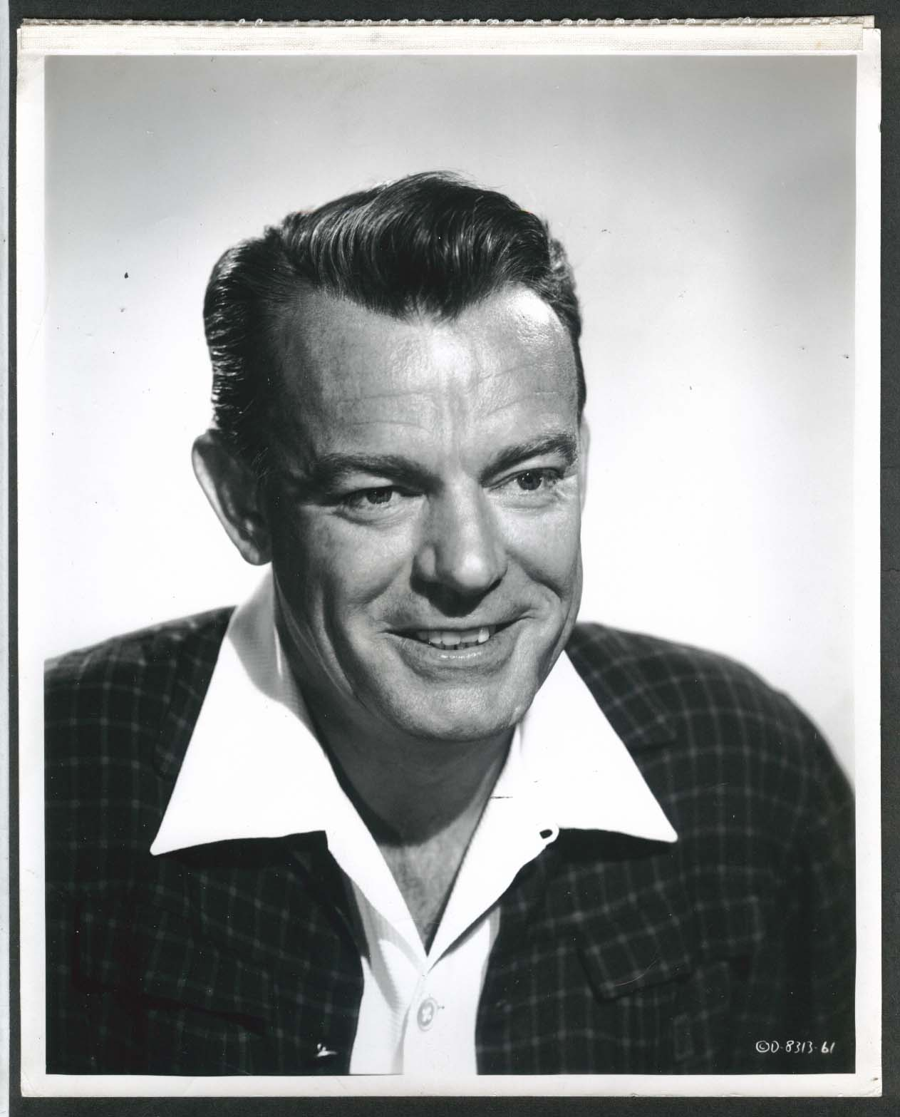 Image for Dennis O'Keefe Inside Detroit 8x10 photograph 1956