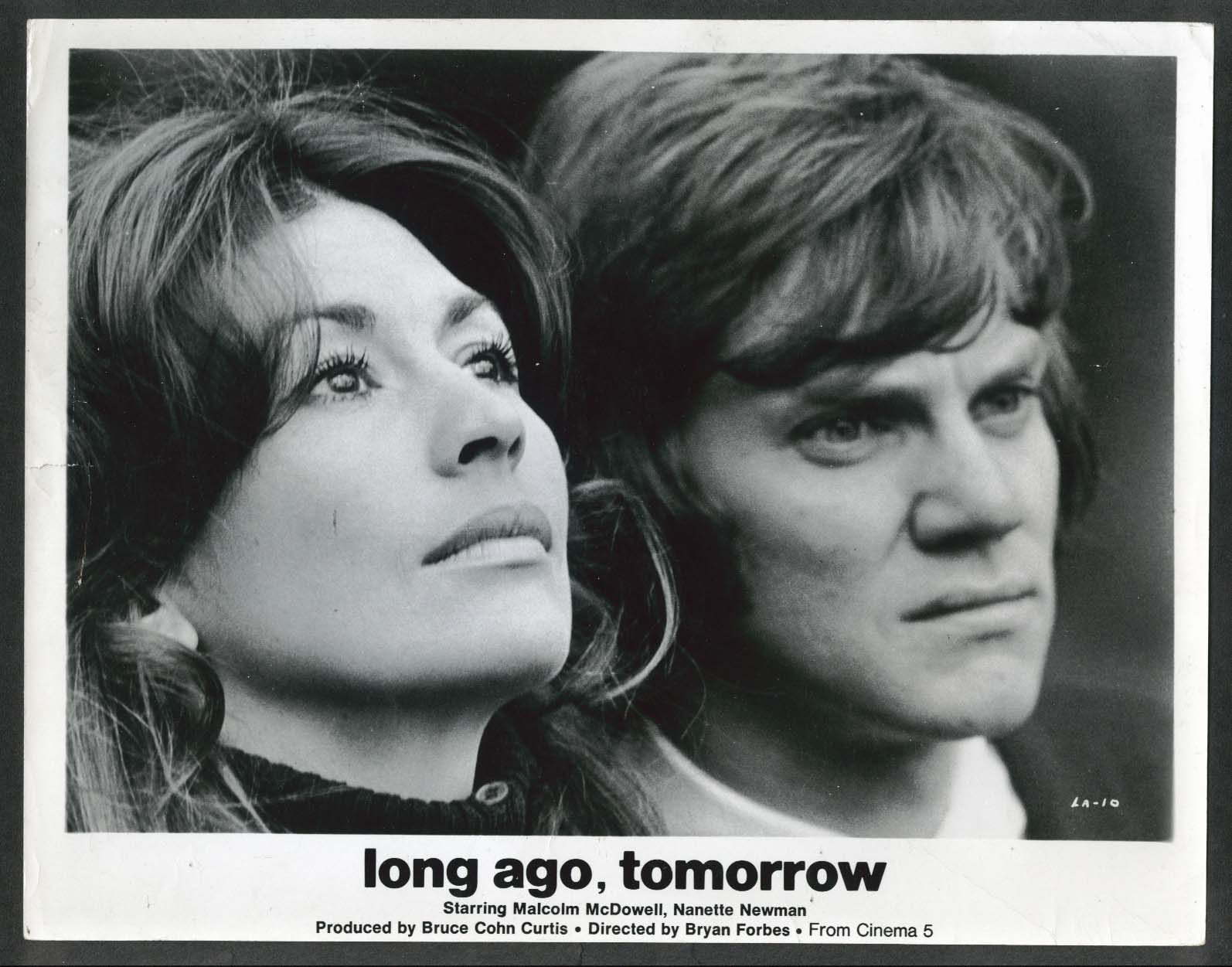 Image for Nanette Newman Malcolm McDowell Long Ago Tomorrow 8x10 photograph 1972