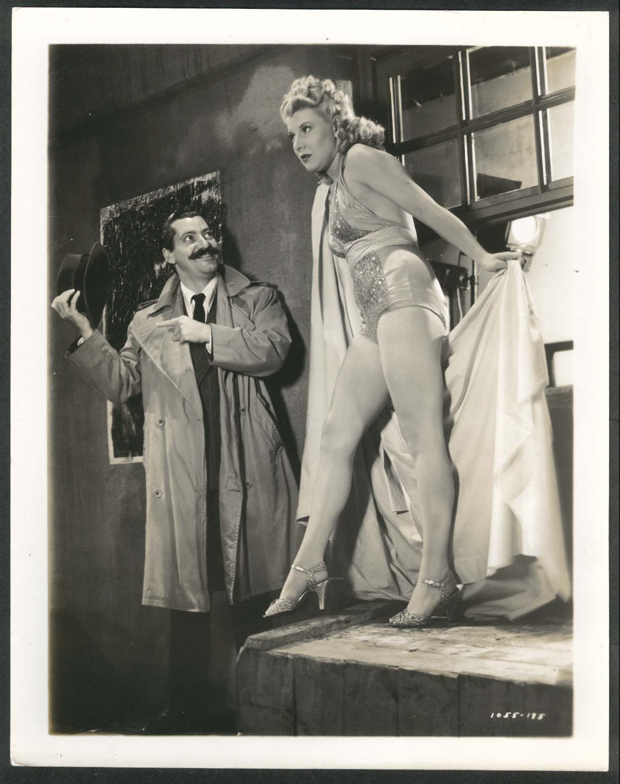 Image for Jerry Colonna Dorothy Lewis Ice-Capades 8x10 photograph 1941