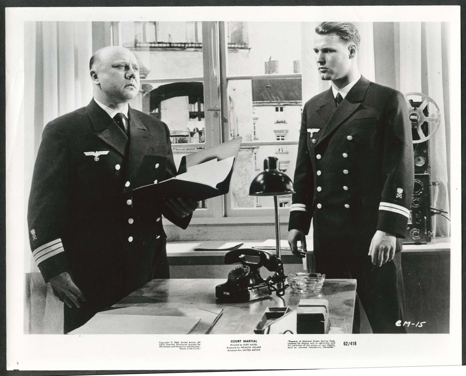 Image for Court Martial Kriegsgericht 8x10 photograph 1962
