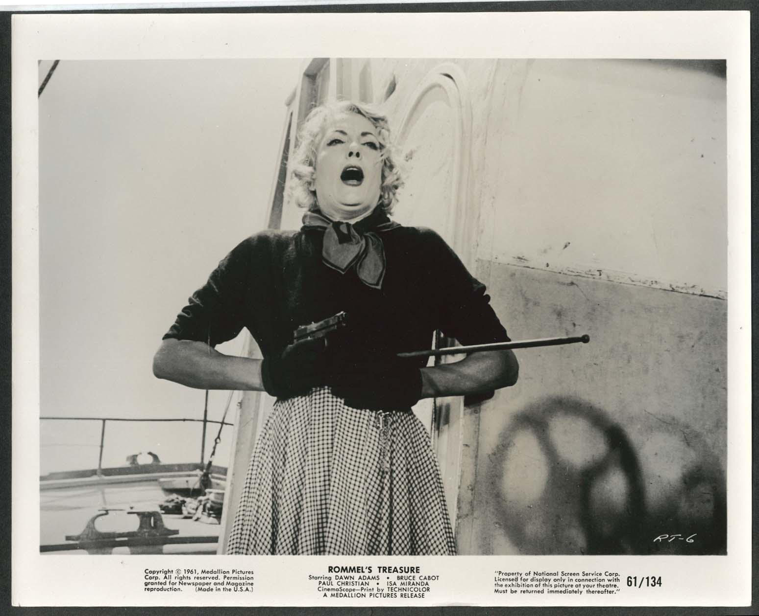 Image for Isa Miranda Rommel's Treasure 8x10 photograph 1961