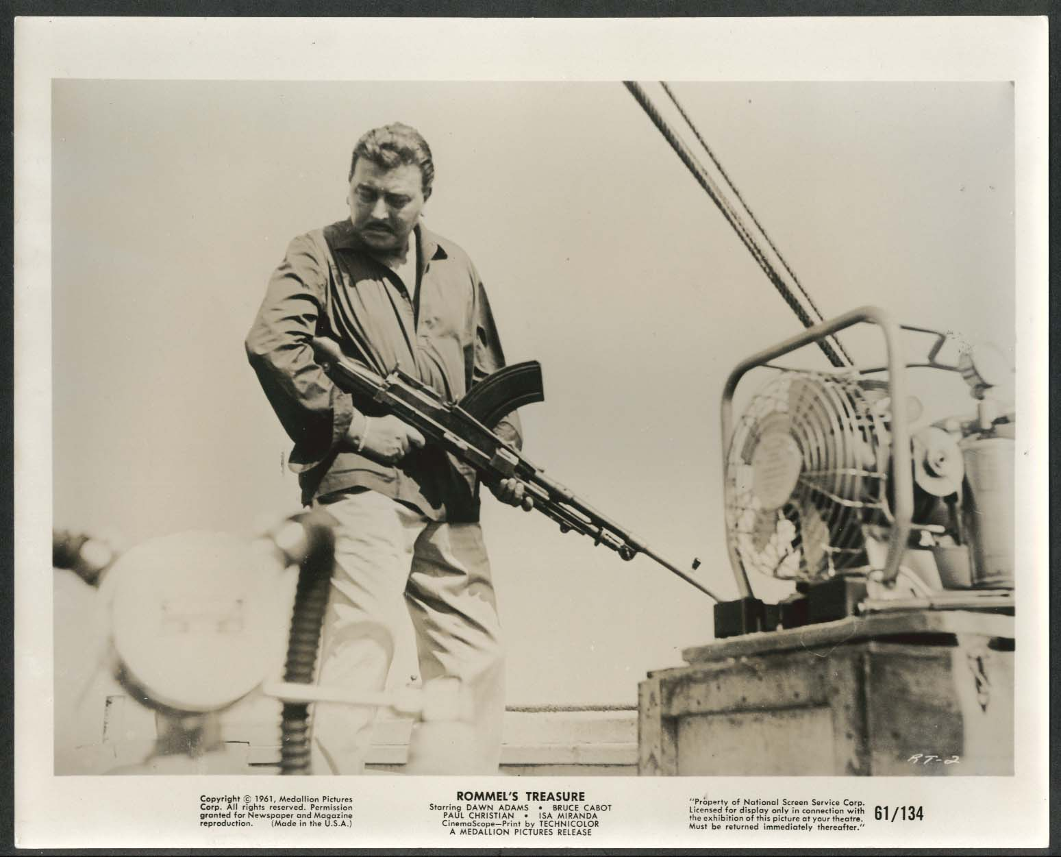 Image for Rommel's Treasure Bren Gun 8x10 photograph 1961