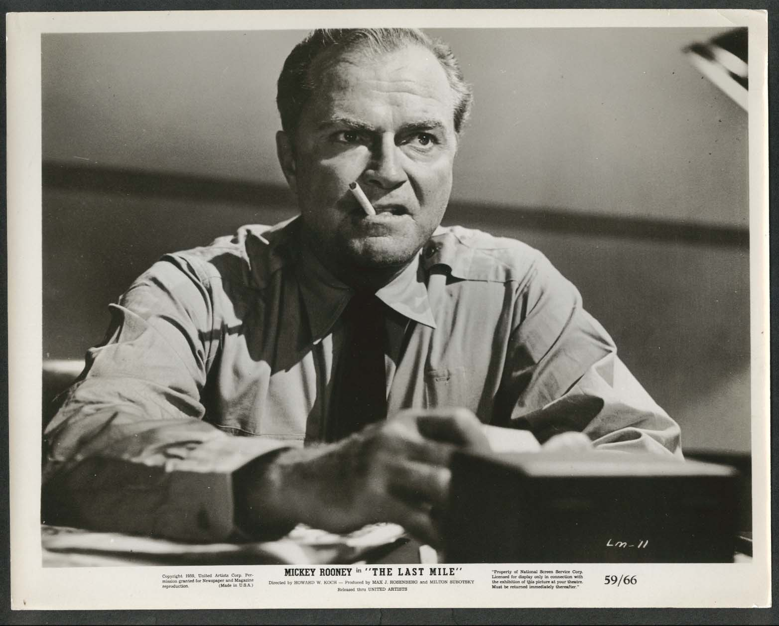 Image for Don Red Barry The Last Mile 8x10 photograph 1959