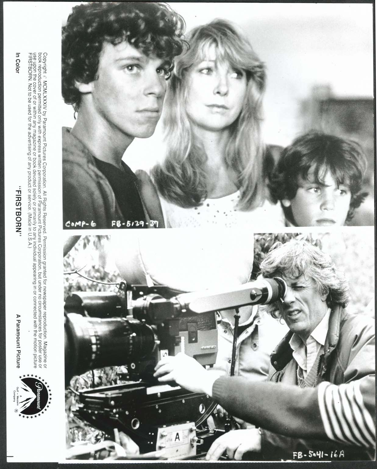 Image for Christopher Collet Teri Garr Corey Haim Firstborn 8x10 photograph 1984