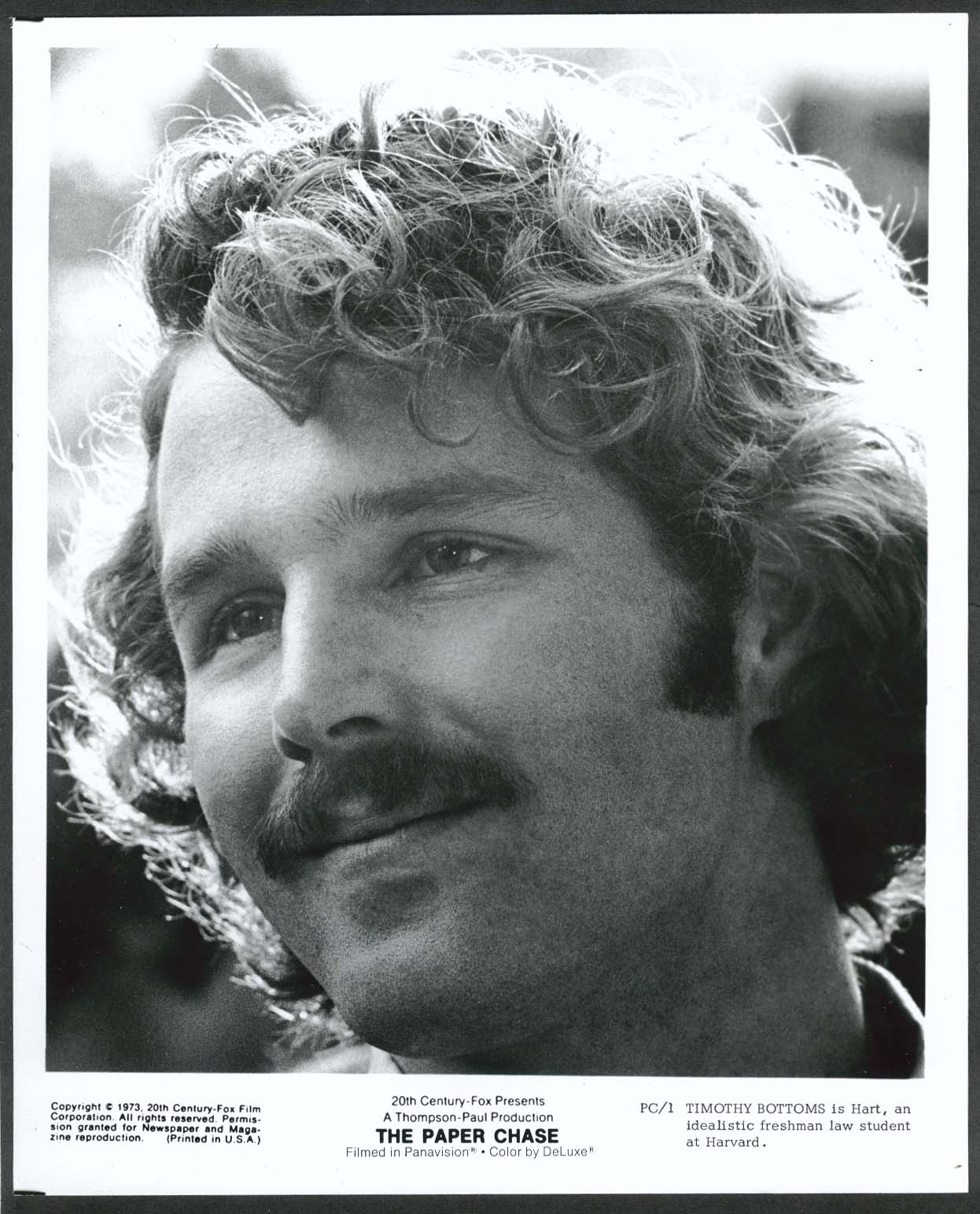 Image for Timothy Bottoms The Paper Chase NBC 8x10 photograph 1973