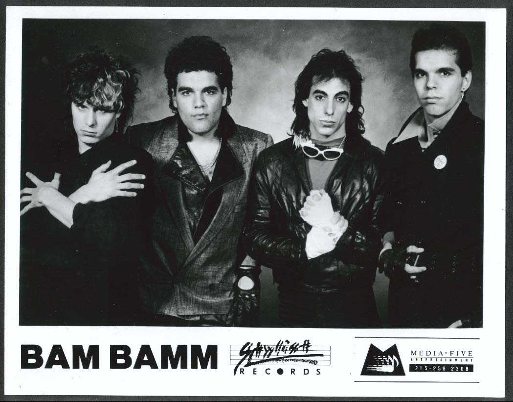 Bam Bamm new wave synthpop band Stylish Records 8x10 photograph 1980s