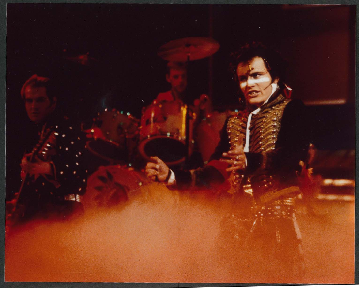 Adam and the Ants performing onstage 8x10 photograph 1980s