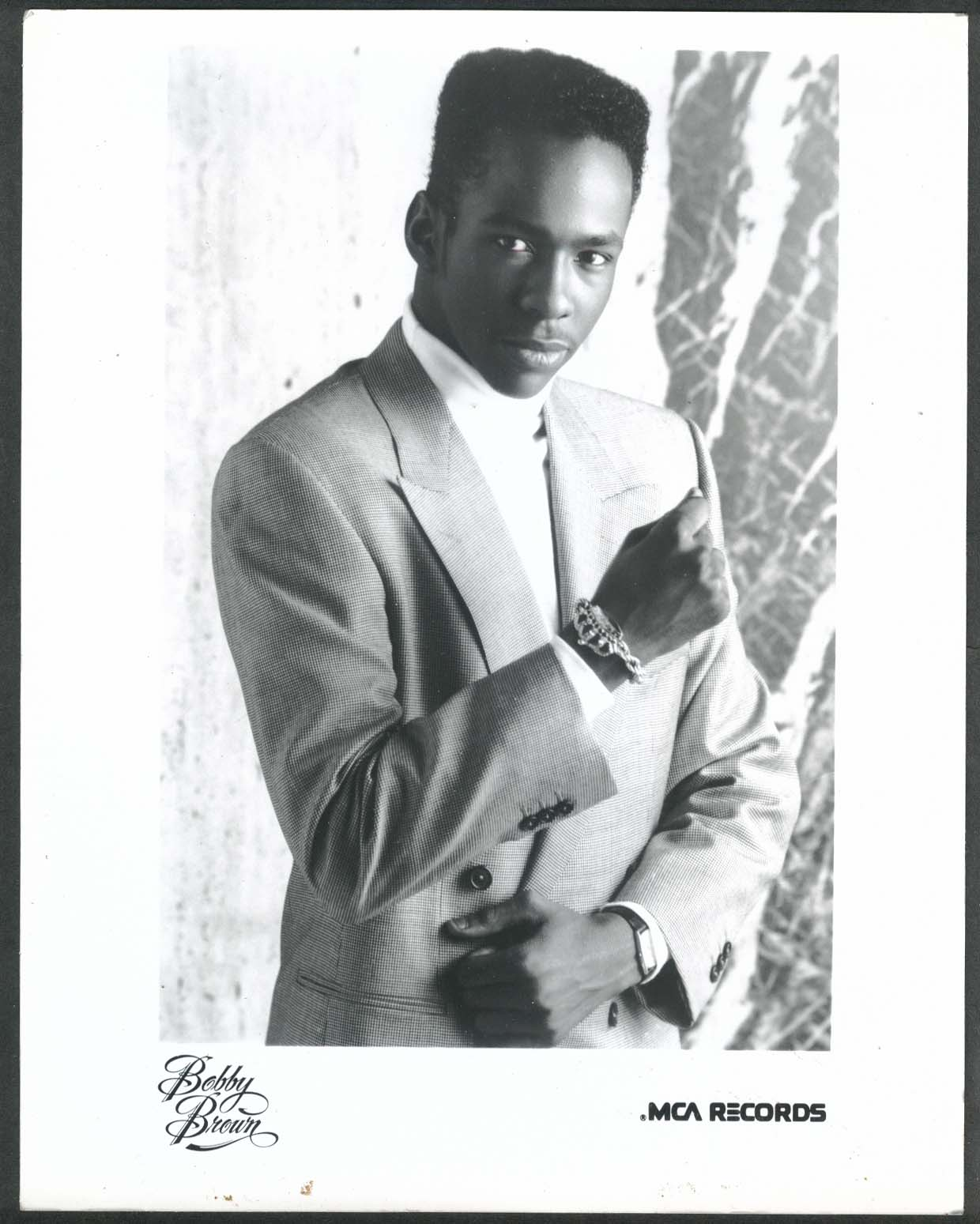 Bobby Brown MCA Records 8x10 photograph 1980s